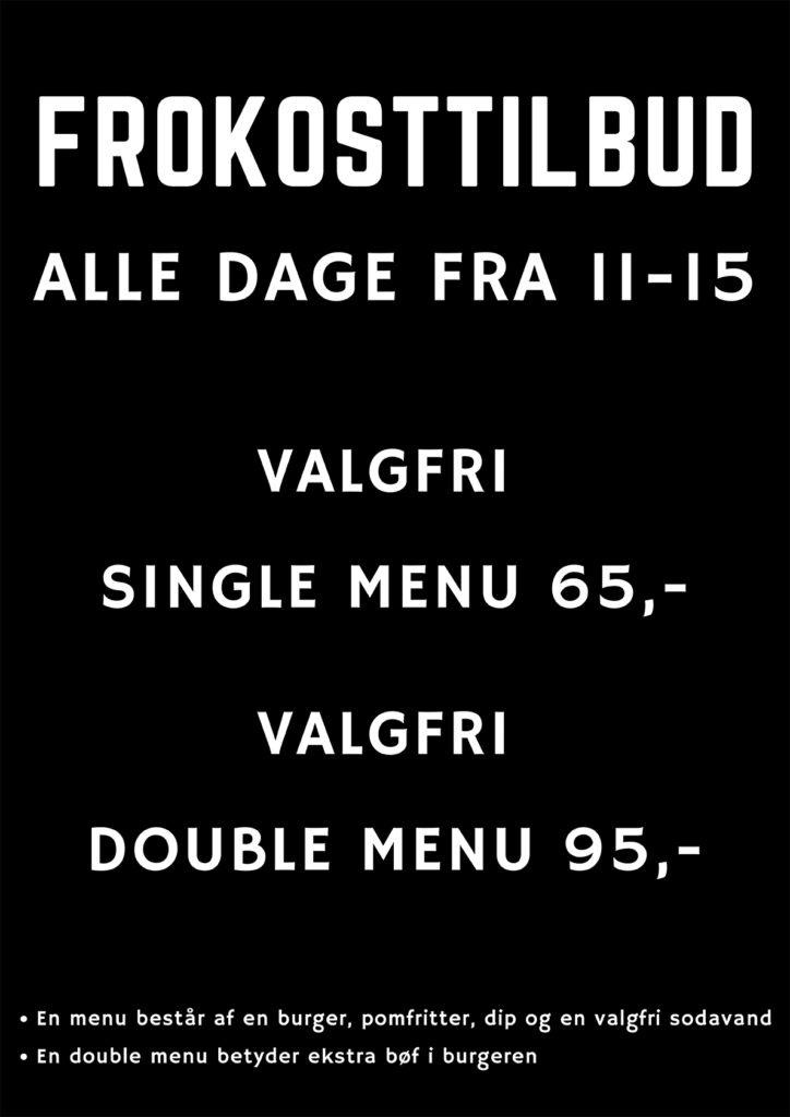 Frokosttilbud - Kødstadens Burger Joint - Trøjborg - Aarhus